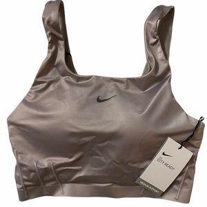 Nike City Ready Dri-Fit Silver Brown Sports Bra M